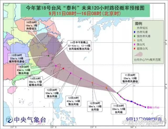 """危急!最强17级!台风王""""泰利""""或于14日猛袭福建,恐怖!第19号台风""""杜苏芮""""将生成 …"""
